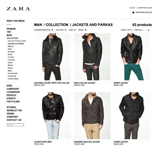 Zara_Category