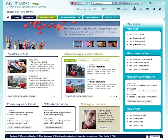 Expertime réalise l'intranet sharepoint 2010 d'Edenred