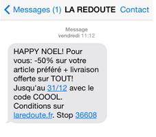 la-redoute-sms