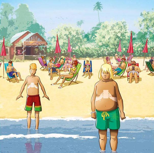 Smartphone-beach
